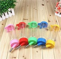 Wholesale Pet Water Drinking Feeder Hanging Puppy Dog Watering Bottle Metal Pipe ml