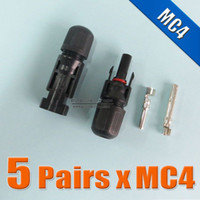 Wholesale 5Pairs x MC4 Connector male and female MC4 Solar Panel Connector used for Solar Cable mm2 mm2 mm2