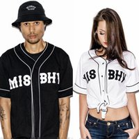 baseball trends - New MISBHV KNYEW Baseball T shirt Jersey Trend Fashion Hip Hop Men Women Couples Sports Cotton T shirts