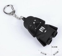 Wholesale Star Wars Darth Vader Keychain Accessories Sound Holder with Flash Light LED Key Ring Gift Toy