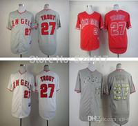 american dry goods - 30 Teams Cheap LA Mike Trout American baseball jersey men s cheap good quality jersey size M XXXL