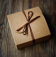 bakery gift boxes - Gift Box Kraft Paper Box Candy Bakery Cake Biscuits Packaging Boxes