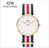 Wholesale 2015 men women Geneva Watches Nylon Strap Band Colck Quartz Watch Same Style For Daniel wellington watches DW watch Wristwatch