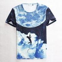 Cheap 2015 summer Men Women t shirt stars rock climbing print short-sleeve casual 3d tshirts harajuku top tees S-XL 1876