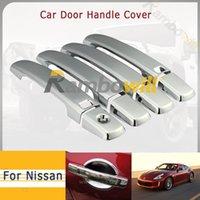 car door handle - 8Pcs Car Door Handle Covers Trim Kit Chrome ABS Protect Fadeproof Fit For Nissan Altima Sentra Frontier Maxima Qashqai Door Auo Part