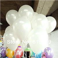 Wholesale Free Ship pc Inch g White Ballon Helium Inflable Snow White Party Wedding Balloons
