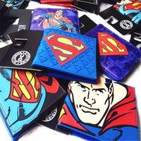 Wholesale Superhero Purse Avengers wallet Iron Man Batman Captain America Spider Man Superman Purse Logo Credit Oyster License Card Holder Wallets Fre