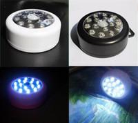 Wholesale 15LED Sensor Light Sound Sensor Lights LED Motion Sensor Light Infrared Sensor Light Body Sensor Night Light White Light Black White Shell