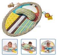 Wholesale pieces multifunction Baby Play Mat Changing Pad early Education toy With Stuffed Animal Pillow Safety Mirror
