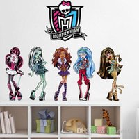 Wholesale Wholesales Sheets Cartoon PVC D monster high school Sticker Waterpoof Fastness Stickers