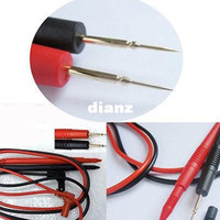 Wholesale New Arrive High Quality Pair Universal Needle Tip Probe Test Leads Pin For Digital Multimeter Meter Tester