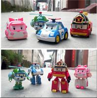 Wholesale 4styles hot poli deformation car Robocar bubble toys South Korea mix robocar poli