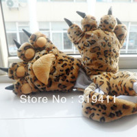 Wholesale tiger bear paw scarf cartoon plush tiger claw gloves SC0034