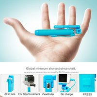 Wholesale Super Mini Supreme Pocket Portable Wired Selfie Stick Handheld Monopods Groove mm Audio Mirror for Mobile Phone Gopor Camera