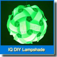 Wholesale DIY Modern Pendant Ball Novel IQ Lamp Jigsaw Puzzle Pendants Colorful Pendant Lights LED DIY Adjustable Chandelier Ceiling Lamp