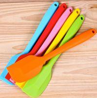 silicone spatula - 500pcs Factory price Wedding Candy Color Silicone Cake Spatula Batter Scraper For Snowflake Cake Tools