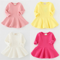 baby frocks - Spring babies clothes long sleeve baby girl cotton dress newborn baby awesome frocks kids chind dress