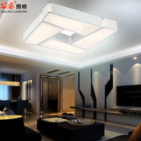 acrylic work surface - square wrought iron fashion white modern simpe contemporary acrylic LED hanging ceiling lights living room bedroom home indoor light v