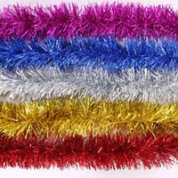 Wholesale NEW Christmas Tree Tinsel Party New Year Christmas Decoration Ornaments Multicolor Color bar garlands