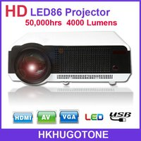 advertising projections - Factory Price High Quality LED86 Projector Lux Full HD Business Digital Advertising Education D Home Theater Projection