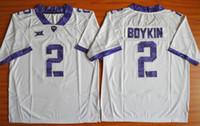 Wholesale 2015 TCU Horned Frogs Trevone Boykin College Football Jersey Cheap Embroidery TCU Horned Frogs College Football Jersey