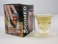 Wholesale Doomed Crystal Skull Shot Glass Crystal Skull Head Vodka Shot Wine Glass Novelty Cup