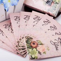 Wholesale Small colored facial tissue paper napkin paper printing handkerchiefs for wedding birthday favors gift with rose quot bless you quot