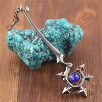 big lulu - Hot Sale LOL League Of Legends Big Size Faerie Witch Lulu Weapon Metal Pendant Key Ring Keychain