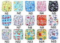 Wholesale Printed Cloth Diapers Baby Cloth Diaper With Inserts Reusable All In One Size