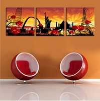 architecture artwork - Unframed Pieces World Famous Architecture Modern Home Wall Decor Canvas Art Picture Print Painting On Canvas Artworks
