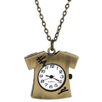 analog t shirts - Children Gift T Shirt Necklace Pocket Watch Case Brass Copper Color Quartz Analog Merry Christmas Fob Clock X60 HM696W S1