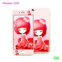 beautiful hardness - Flower girl original fashion Beautiful Girl Design Premium Tempered Glass Flim for iPhone mm Full Body Explosion Proof Membrane