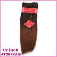 Wholesale Factory Live Clockwork Straight hair extension inch YAKA T3 dark brown gradient light brown Brazilian hair One from the sale