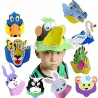 Wholesale Cartoon animals EVA foam hat