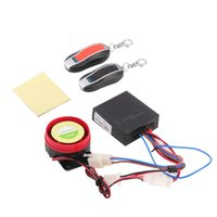 Wholesale car New Set Motorcycle Bike Anti theft Security Alarm System Remote Control Engine start V V Hot Selling