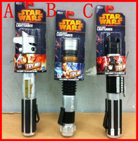 Wholesale 2015 HOT Star Wars hasbro Lightsaber scalable three star war light saber children s Christmas gifts and holiday gifts