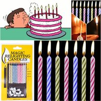 Wholesale Special Packs Magic Trick Funny Relighting Candle Birthday Cake Mate Party Prank Joke
