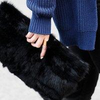 aaa quality handbags - Women PU Handbags Totes Bag Autumn Winter Plush Bag Tide Color Crocodile Grain Purse LY R02 AAA Quality