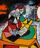 art painting lessons - Pablo Picasso Painting The Lesson art on canvas High quality Handcrafted