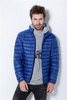 Wholesale Fall Ultra Light Thin Men s Winter Coat Winter Jacket Men Stand Collar Down Parka The North America Duck Down Jacket Men