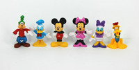 Wholesale MICKEY Mouse Minnie Mouse Donald Duck set Cartoon figure Children toy Free ship