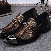 Cheap Fashion Men Oxfords Gold Rivet Carving Shoes for Men Business Style Genuine Leather Shoes Zapatos Mujer Plus Size 38-46