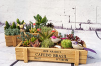 wooden planter - Zakka Wooden Box Wooden Storage Box Sewing Box Crafts Wooden Boxes Small Flower Pots Planters BKH