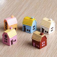 Wholesale 5Pcs Miniatures House Fairy Garden Decor Crafts Miniature Figurine Resin Craft Fairy Dollhouse Decor Garden Ornament