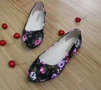 ballet roses - 2016 Women s Casual Flowers Canvas Shoes Fashion Spring Autumn Multicolor Roses Girls Flat Shoes EU35 EU41
