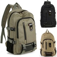 Wholesale Hotselling new fashion men s backpack casual canvas backpack middle school bag travel bag large capacity backpack men bag CA05213