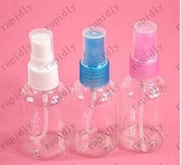 Wholesale 30ml transparent packing bottle plastic spray bottle perfume bottle High grade Refillable PET with Spray Pump Atomizer Small Empty