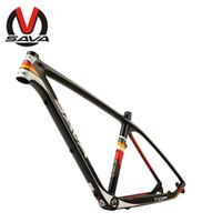 Wholesale SAVA quot quot Bicycle Frame Mountain Bike Carbon Frame MTB Size quot M Black