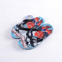 Wholesale PrettyBaby Cartoon Spiderman Summer Slippers Big boys Flip Flops Kids Beach and Home High Quality
