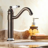 basin mixer taps swivel spout - Roman Bronze and Porcelain Faucets Kitchen Sink Bathroom Basin Brass Faucet Mixer Tap Swivel spout faucets A F052
